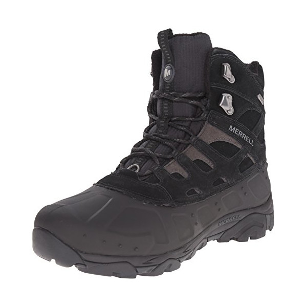 Merrell Men's Moab Polar Waterproof Winter Boot,Black,7 M US