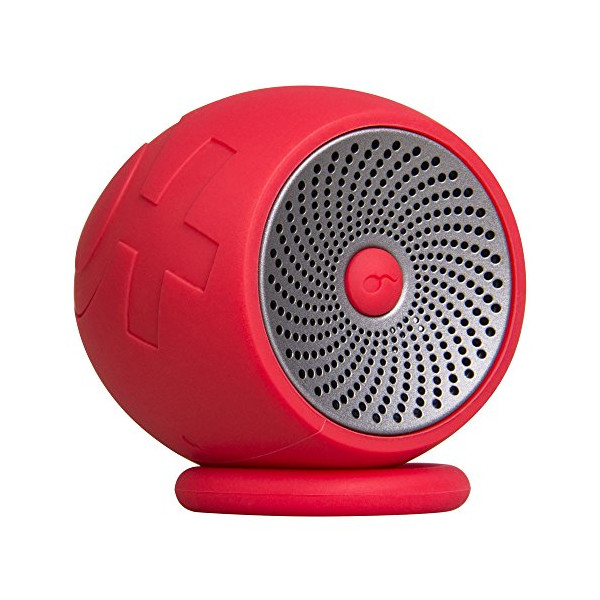 iLike Water Resistant and Ultra Portable Wireless Bluetooth Speaker with Unique Design, Control Buttons for Showers, Pool, Car, Beach, & Outdoor Use (Red)