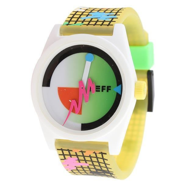 Neff Men's NF0208-grid Custom Designed Movement PU Strap Watch