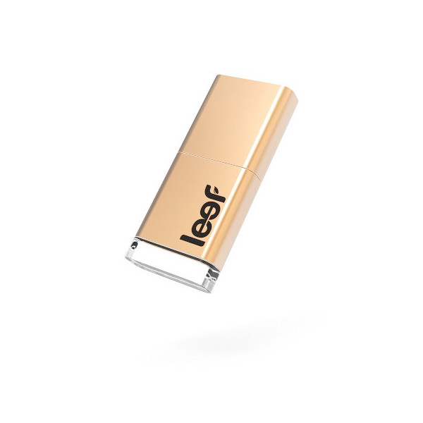 Leef Magnet USB 3.0 16GB USB Flash Drive with LED, Magnet Cap and PrimeGrade Memory, Copper Edition