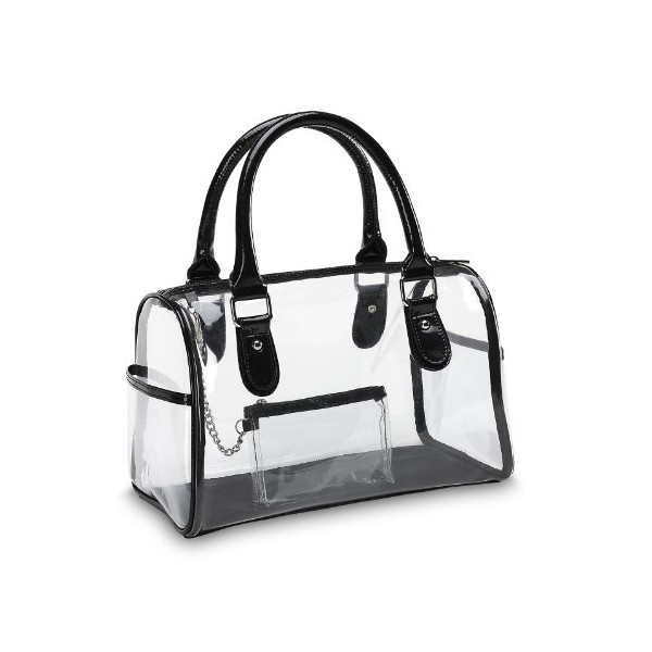 Designer Inspired Clear Satchel Handbag