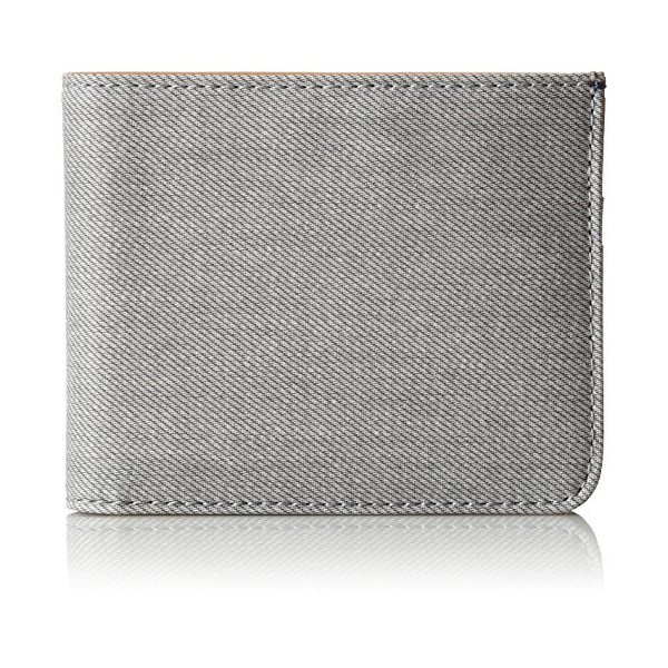 Skagen Men's Nicolaj Coated Canvas Bifold, Grey, One Size