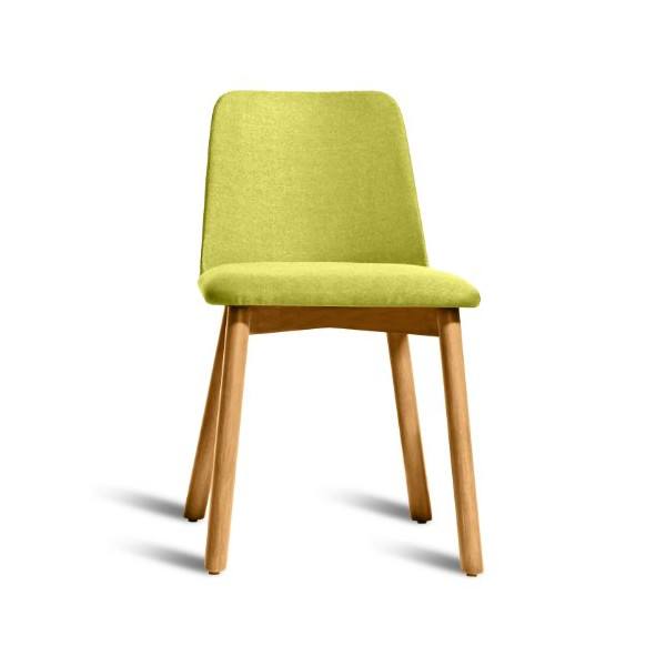 Blu Dot Chip Dining Chair, White Oak / Bright Green