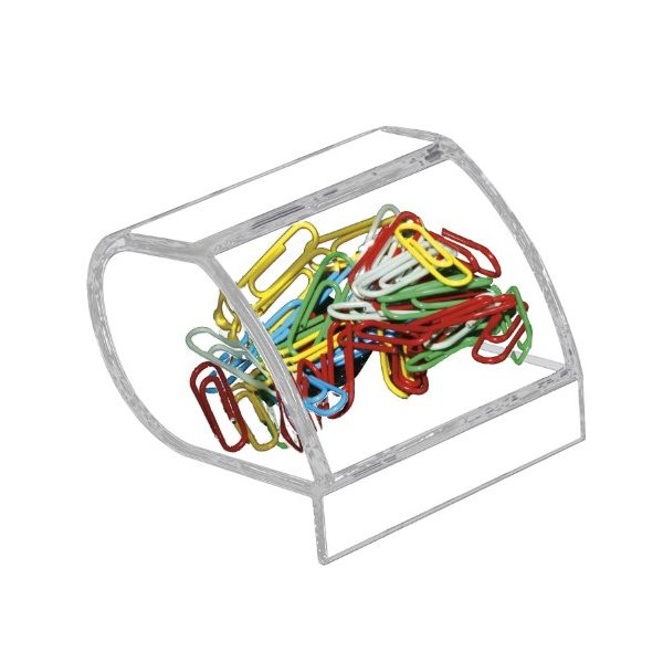Kantek Paper Clip Holder, Acrylic, 3 x 4 x 3.5 Inches, Clear (AD-40)