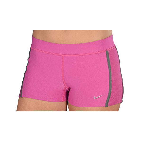 Nike Women's Dri-Fit Compression Running Shorts-Pink-Large