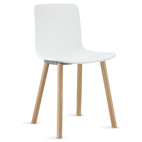 LexMod Sprung White Plastic Modern Dining Chair