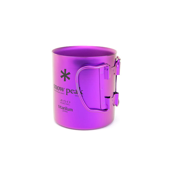 Snow Peak Titanium Double Wall 450 Mug, Purple