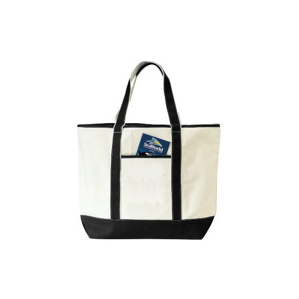 Deluxe Canvas Tote Bag, Black