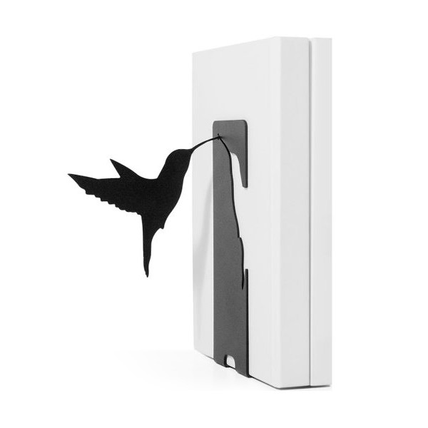 Black Hummingbird Bookend