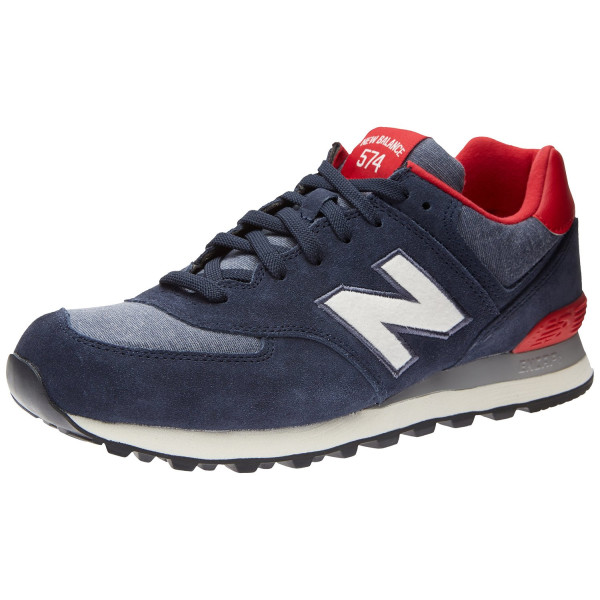 New Balance Men's ML574 Pennant Pack Running Shoe,Navy/Red,10 D US