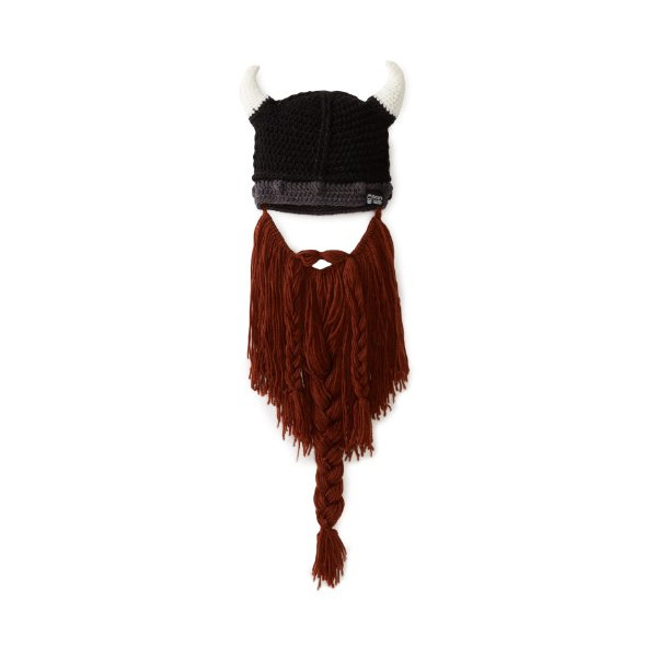 Beard Head Barbarian Pillager Beanie, Brown, One Size