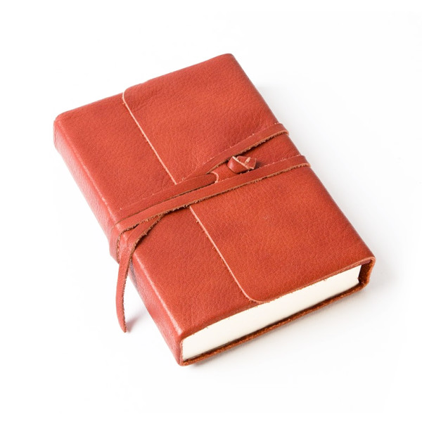 Cavallini Leather Journal, 3.25 x 4.25 Inch, Persimmon
