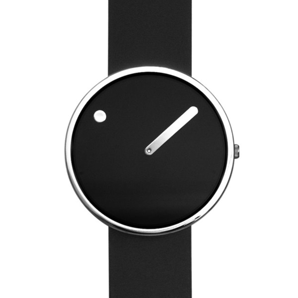 "Rosendahl Picto Watch, Black, 1.8"" Diameter"