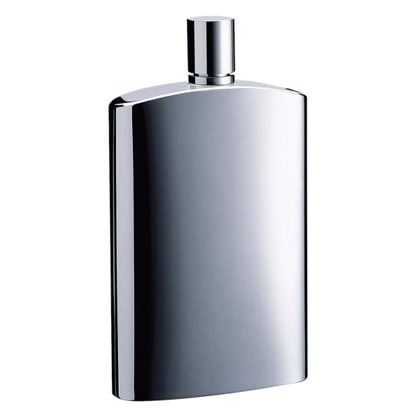 "Visol ""David"" Stainless Steel 4-Ounce Hip Flask, Brushed Metallic"