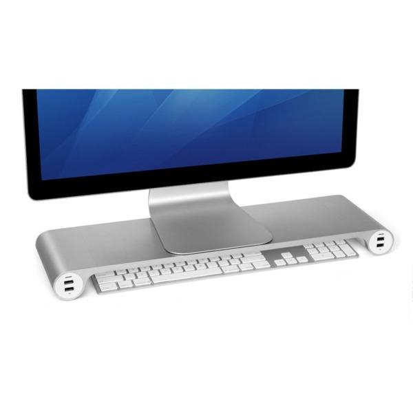 Spacebar Aluminum Monitor Stand, Keyboard Organizer & USB Hub