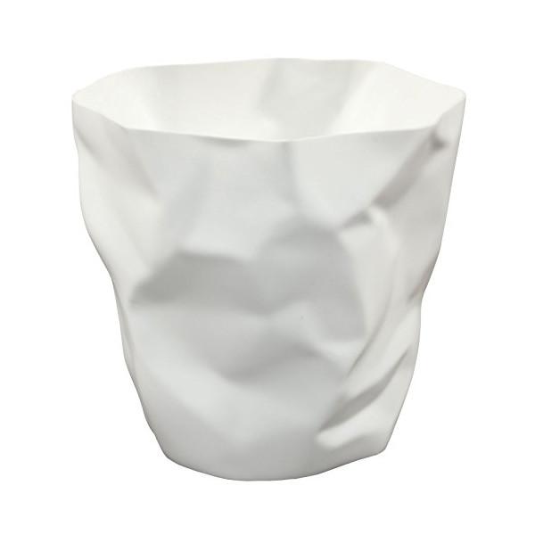 LexMod Lava Trash Bin, White