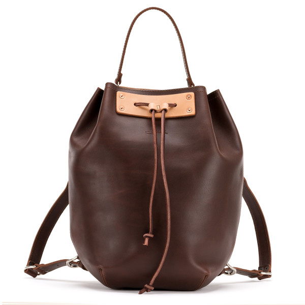 Saddleback Leather Bucket Backpack, Chestnut