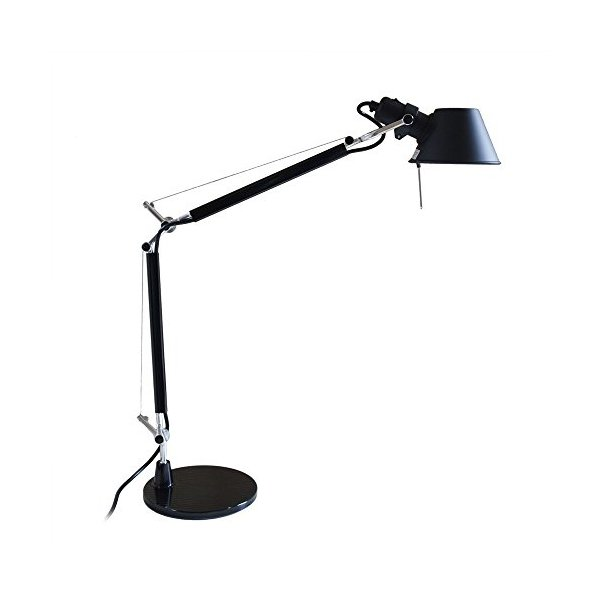 MODO TL-05 Black Color Mini Office Desk Lamp Polished Aluminum Lights