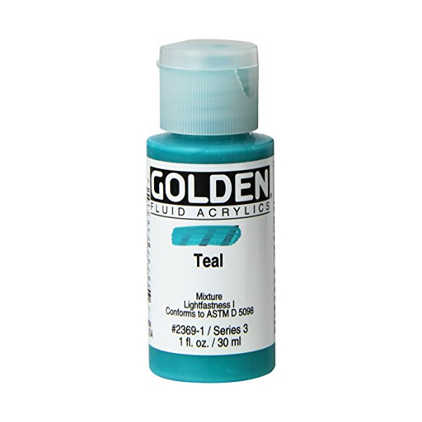 Golden Fluid Acrylic Paint 1 Ounce-Teal