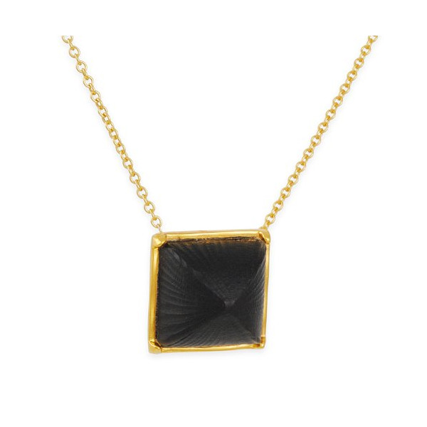 ALEXIS BITTAR - Pyramid Necklace in Black