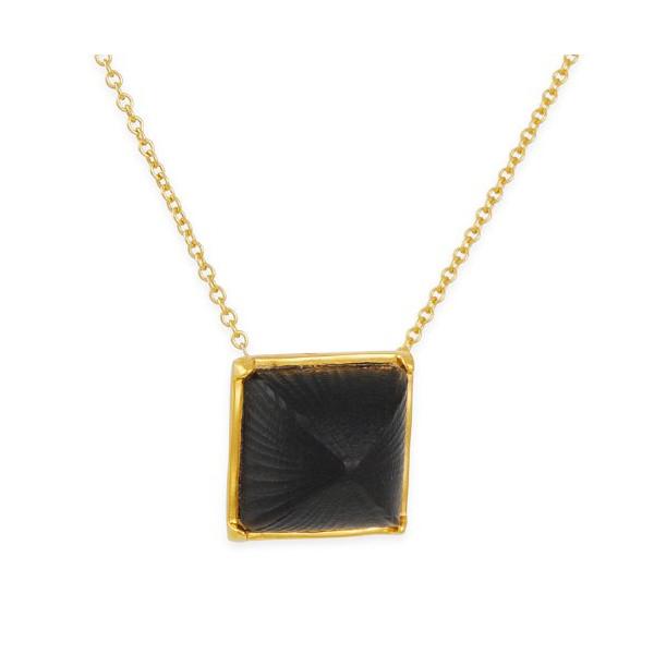 ALEXIS BITTAR - Pyramid Necklace in Black