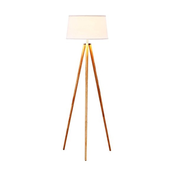 Brightech - Emma Tripod Floor Lamp - Classic Design for Contemporary or Traditional Living Rooms - Soft Ambient Lighting - White Shade