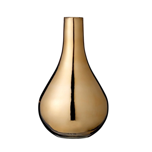 Copper Glass Vase with Narrow Neck