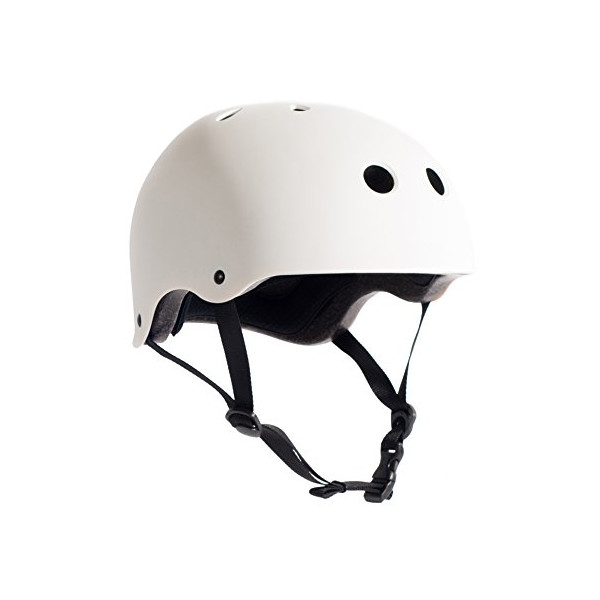 Critical Cycles Classic Commuter Bike and Skate Helmet, Medium/Large, Matte White
