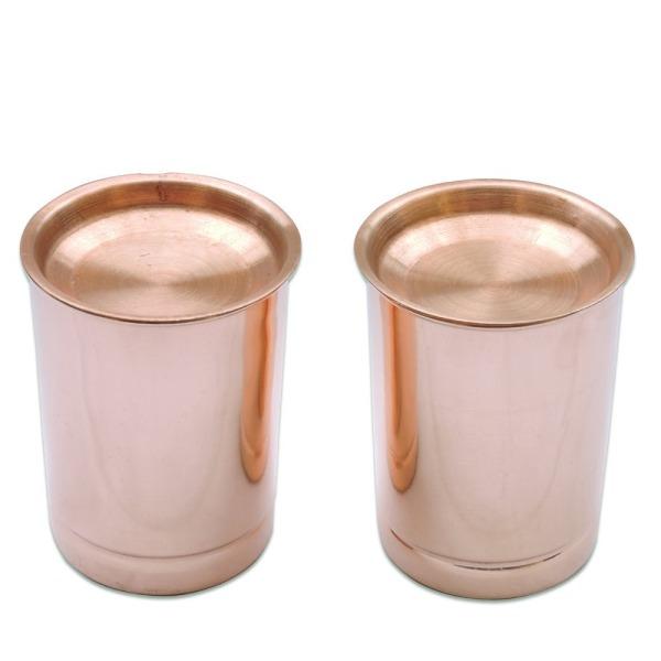 Copper Tumbler Set of 2 | Traveller's Copper Mug