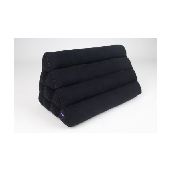 Triangle Cushion, 20x13x13 inches, Kapok, Black