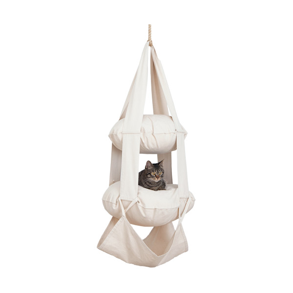 Cat's Trapeze Triple Tiered Suspended Cat Climber/Lounge