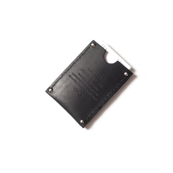Apolis Leather Card Holder Men's One Size Black
