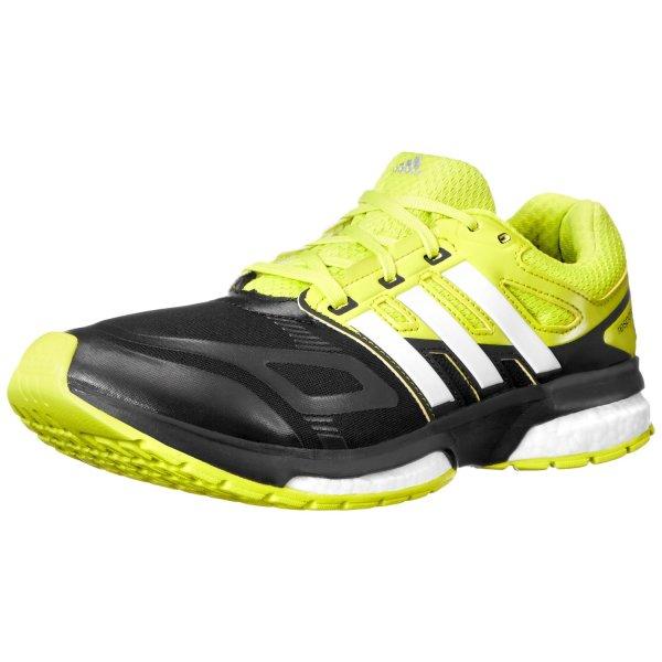 adidas Performance Men's Response Boost Techfit M Running Shoe, Core Black/Running White/Semi Solar Yellow, 12.5 M US