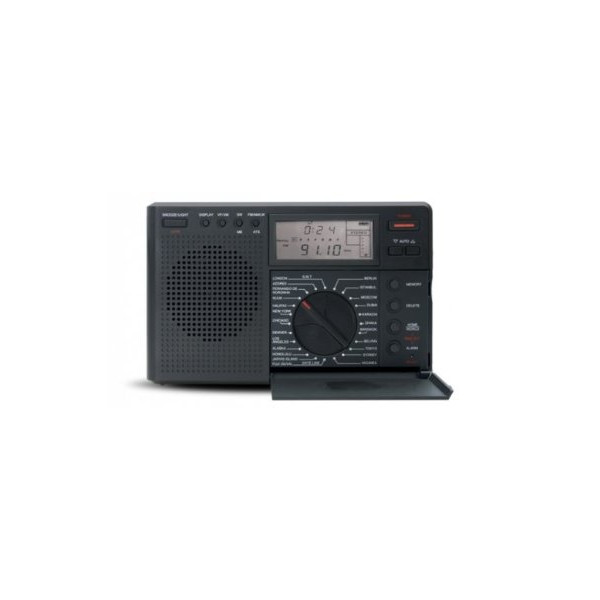 Grundig G8 Traveler II Digital AM/FM/Shortwave Radio with Auto Tuning Storage - Black (NG8B)