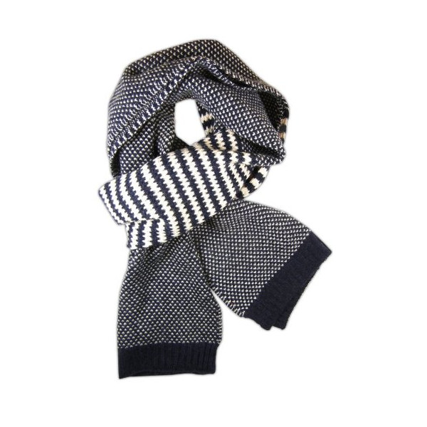 Uptown Knit Navy Wool Blend Scarf