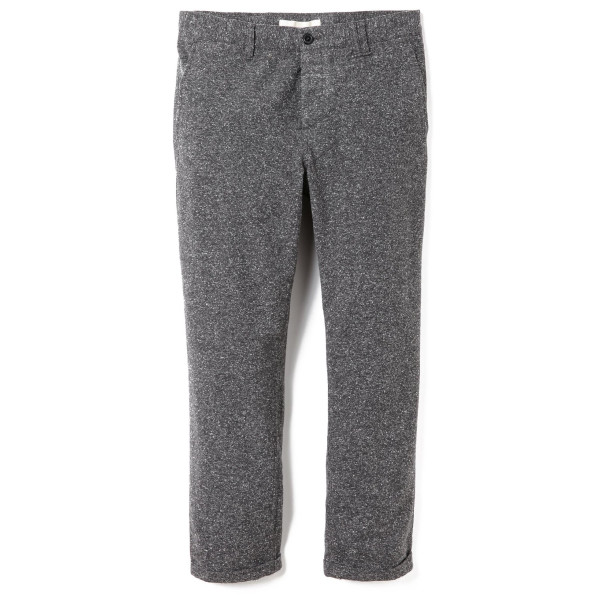 Norse Projects Men's Aros Noise Cropped Pants, Charcoal Melange