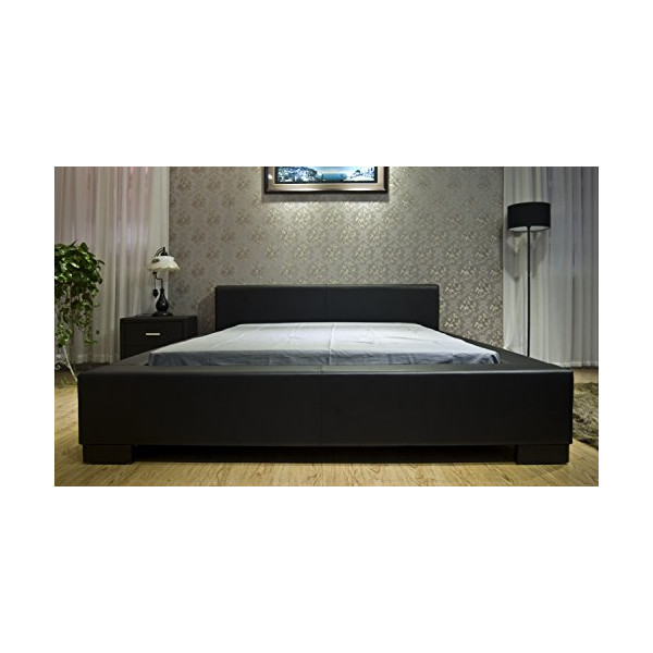 Greatime B1142 Eastern King Black Modern Platform Bed
