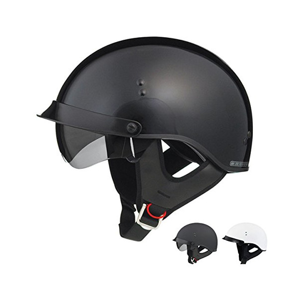 GMax GM65 Full Dress Half Helmet - Medium/Gloss Black
