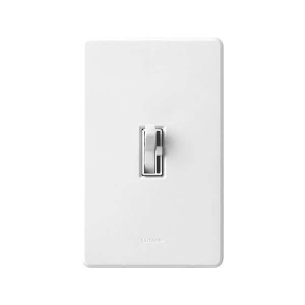 Lutron TG-600PH-WH Toggler 600W Preset Dimmer White