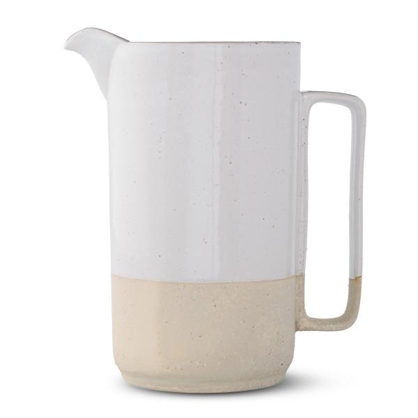 Bloomingville White Ceramic Barbara Pitcher, Multicolor