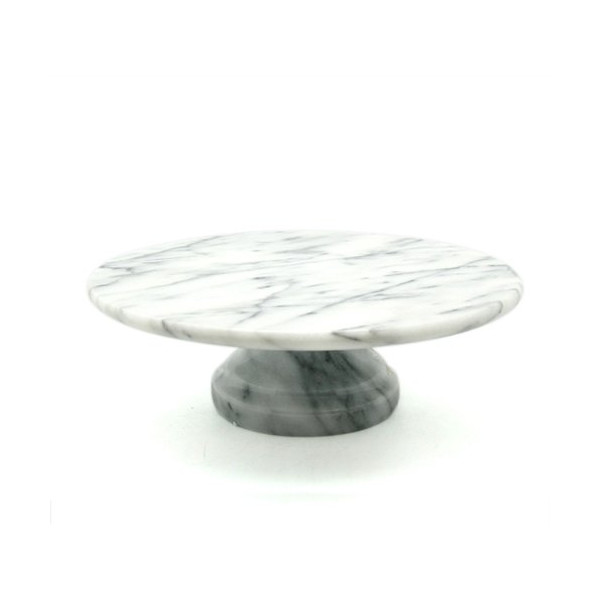 Byzantine Cake Plate on Pedestal Color: White