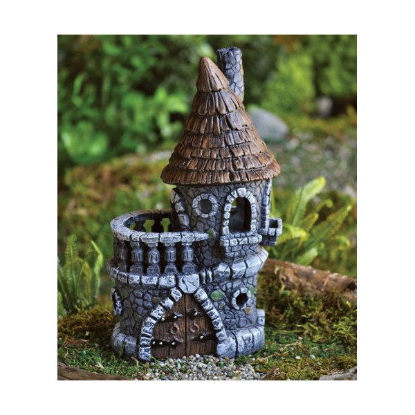"Fiddlehead Castle Fairy Home / House - 4.5"" Diameter X 9"" Tall"