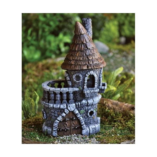 "Fiddlehead Castle Fairy Home / House - 4.5"" Diameter X 9"" Tall"