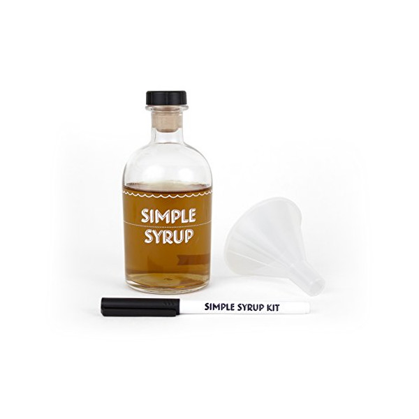 Simple Syrup Kit - A kit for making and storing your own simple syrup, for use in cocktails, iced coffee, tea, etc.