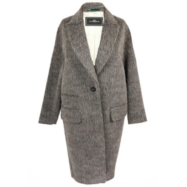 By Malene Birger Women's Prosa Mohair Coat, Medium Grey Melange, 36