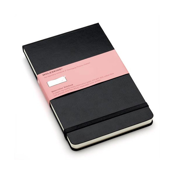 Moleskine Large Watercolor Book - Black (5.25 x 8.25) (Reporter Notebooks)