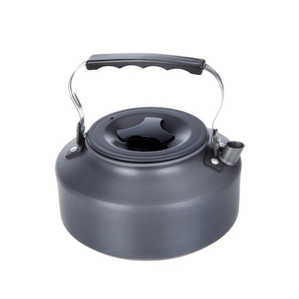 Docooler 1.1L Portable Ultra-light Outdoor Hiking Camping Picnic Water Kettle Teapot Coffee Pot Anodised Aluminum