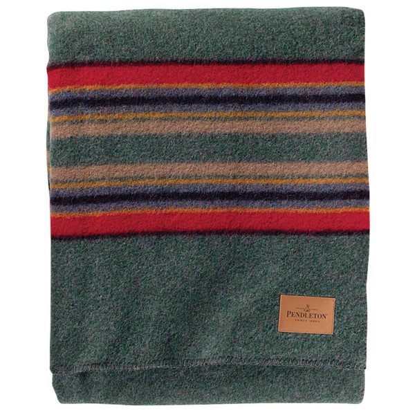 Pendleton Queen Camp Blanket, Green Heather