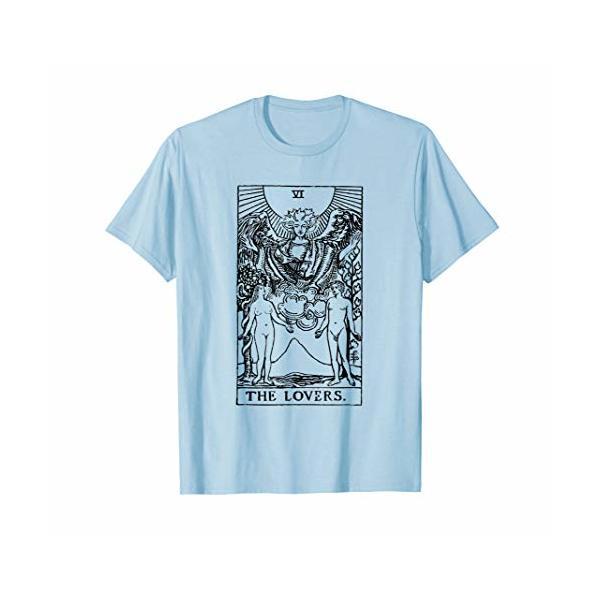 Tarot T-Shirt | The Lovers | Tarot Cards | Black & White