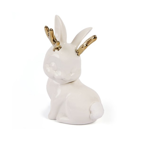 Jackalope Cotton Ball Holder (by GAMAGO)